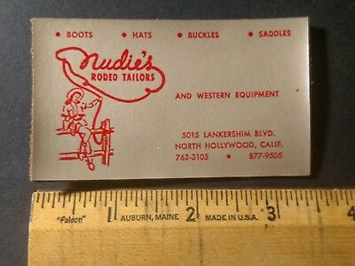 Nudie's Rodeo Tailors business card. It's made out of leather!