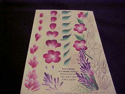 Donna Dewberry One Stroke Folkart RTG Petunia and Carnation Flowers Reusable