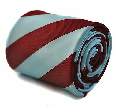 Claret & Light Blue Barber Striped Mens Tie FT627 West Ham Football Club FC