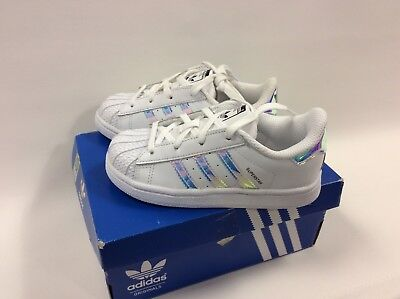 White Kids Adidas Trainers Superstar Shoes Silver Metallic FFa14T6nq