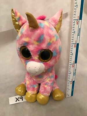 TY BEANIE BOO Fantasia the Unicorn in Large Size Soft Plush Toy ... a3be268bcd85