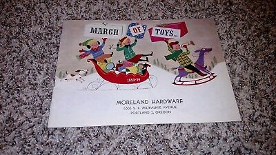 VINTAGE 1953-54 March of Toys Christmas Catalog Moreland Hardware Portland OR!!!