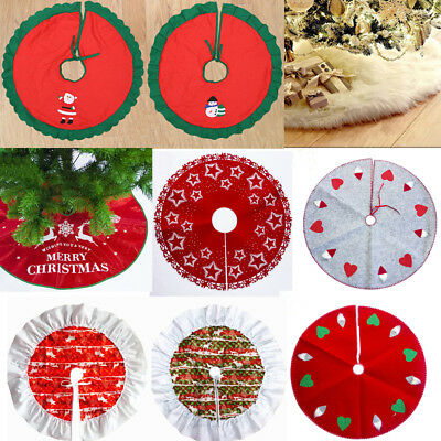 Christmas Tree Skirt Skirts Decorations Stands Bases Floor Mat Home Xmas Decors