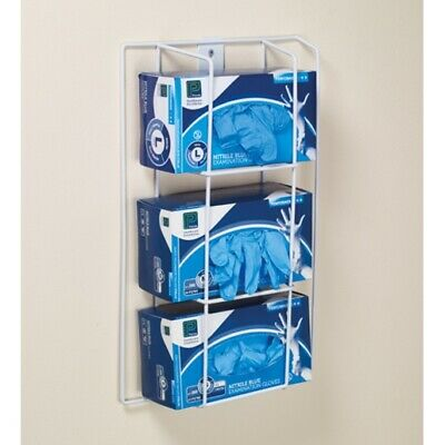 Wall mounted Glove Box Dispenser holder/frame for Three Glove Boxes