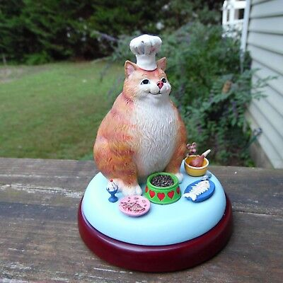 Got Food? by Gary Patterson Danbury Mint Comical Cats Figurine