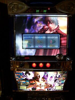 DEVIL MAY CRY=Pachislo TOKEN BIG SCREEN Slot Machine=lots of tokens=TOP SLOT=EC