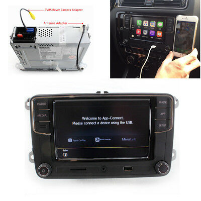 6.5'' MIB RCD330 Car Play Mirro Link Desay 187B Stereo w/ Adapter Kit Fit For VW