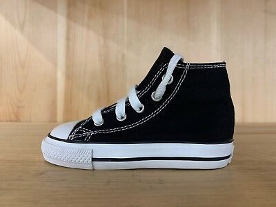 6c03f1ad1831 Converse Chuck Taylor Ct All Star Hi Black Baby Infant Sz 4-10 7J231
