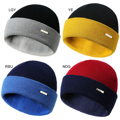 2829414f54888 Men Women Warm Winter Knitted Wool Beanie Hat Solid Color Warm Ski Skull  Cap Hat