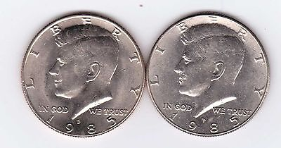 1985P-D Kennedy Half Dollar, Two very nice coins!