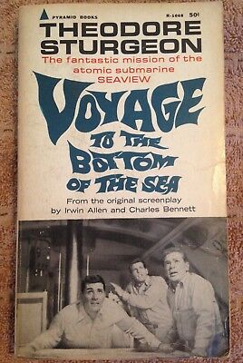 VOYAGE TO THE BOTTOM OF THE SEA Theodore Sturgeon 1967 4th Printing Pyramid PB