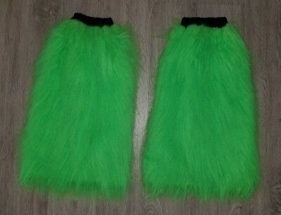 Furry Leg Warmers > Green > Rave Party Accessories