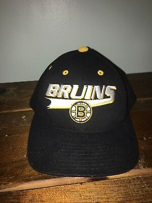 quality design ec6b3 15df1 ... coupon code for boston bruins wool nhl hockey snapback hat cap 90s vtg  f992f 257a0