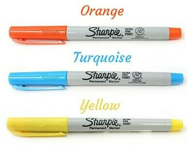 Sharpie Ultra Fine Tip Point Permanent Marker Pens, 14 Assorted Colours New