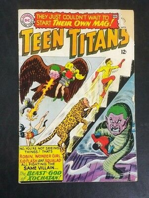Teen Titans #1 DC Comics 1966 Silver Age 12 Cent Nick Cardy! 1st Issue GD+ 2.5