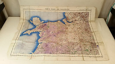 Vintage WWII War Dept. Pilot's Ordinance Survey Map of Northern UK - COOL!