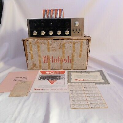 McIntosh C20 Tube PreAmplifier all ORIGINAL BOX receipt (C11 & C22 era)