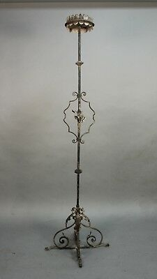 1920's Wrought Iron Tudor Standing Torchiere Candleholder Candle Holder (11444)
