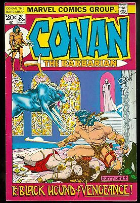 Conan The Barbarian #20, the Black Hound, Nov 1972, Barry Smith, 8.0-9.0