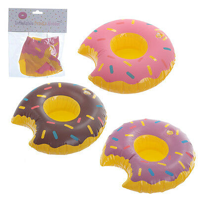 1 x Floating Inflatable Drinks cup Holder donut swimming pool drink holder