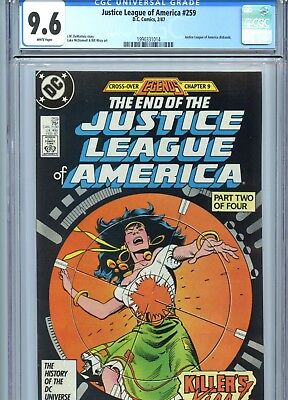 Justice League of America #259 CGC 9.6 White Pages DC Comics 1987