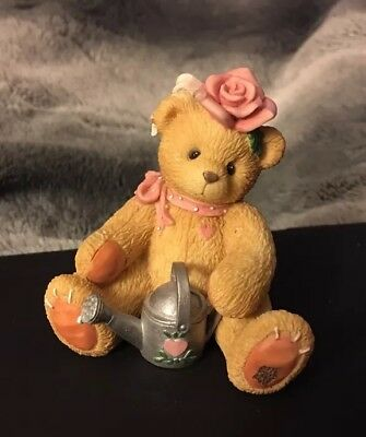 1996 Cherished Teddies Figurine Rose Everything's Coming Up Roses 202886 Retired