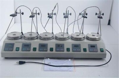 6 Heads Multi Unit Digital Thermostatic Magnetic Stirrer Hotplate Mixer New if