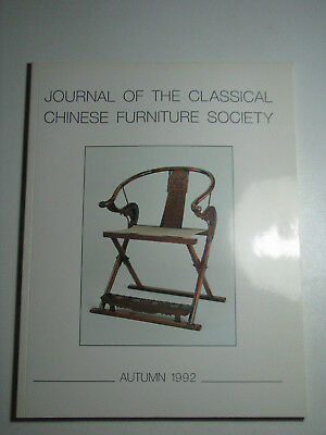 Journal of the Classical Chinese Furniture Society Autumn 1992 Collectible