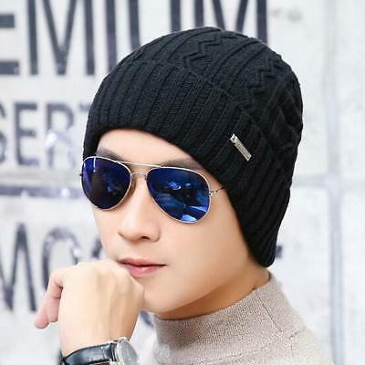 fd8465a860ef5 Men Soft Ribbed Beanie Knit Ski Cap Skull Hat Warm Solid Color Winter Cuff