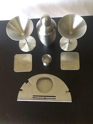 Stainless Steel Martini Shaker Bar Bartender Cocktail Double Jigger Beverage Mat