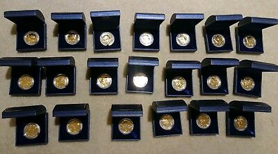 Lot Of 20 World Reserve Proof 24 Kt Gold Plated Kennedy Half Dollars With Case