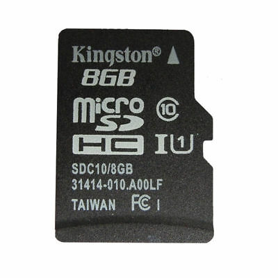 Kingston 8GB Micro SD TF Memory Card SDHC Class 10 +SD Adapter for Phone