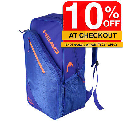 Head Core Performance Backpack/Carry Sports/Tennis Racquet/Racket Bag Cover Blue