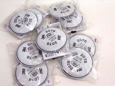 10 Filter ( 5 Pack )  3M  2078  Particulate Filters- NIOSH P95 - Free Shipping