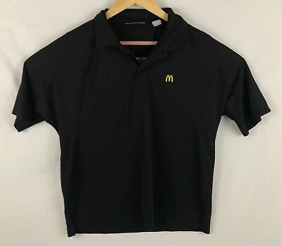 Mcdonalds Apparel Collection Unisex Black Polo Size Small Shirt