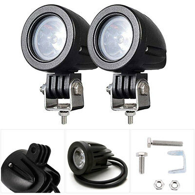2Pcs 10W LED Spot Beam Lights Lamp Motorcycle Car Bike Work Driving Fog Light