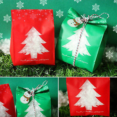 Christmas Paper Bags Boxes Favour Present Sweets Candy Carrier Xmas Party LI