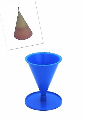 """Proops 4.5"""" Tall Cone Shaped Candle Mould Mold with Base/Stand, UK Made. S7639"""