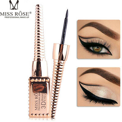 Black Waterproof Lasting Eyeliner Liquid+Eye Liner Pencil Pen Beauty Makeup Tool