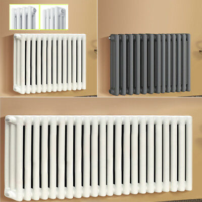 Traditional Cast Iron Style Radiators White/Anthracite 2/3 Column 300mm-600mm UK