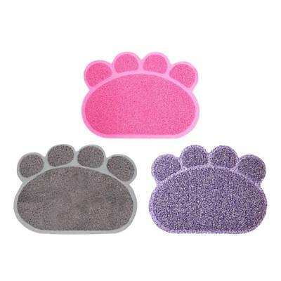 Cat/Kitten Claw Print PVC Litter Tray Floor Mat Pad Paw Cleaning/Anti Tracking