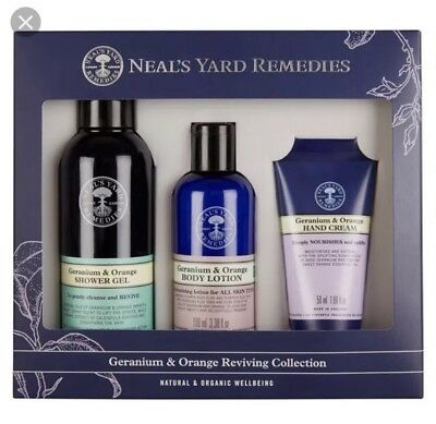 Neal's Yard Remedies Geranium & Orange Reviving Collection (3 Products) RRP £30