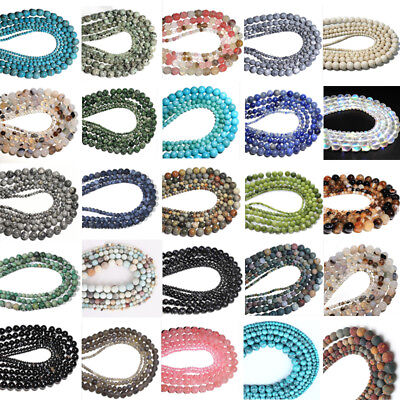 Wholesale 4 6 8 10mm Natural Stone Bead Spacer Jewelry Bulk Beads For DIY Making