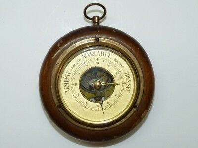 Antique French Spring Mechanism Barometer, Diameter of Dial 5.7 cm