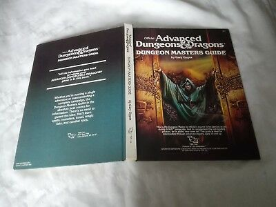 Ad&d Advanced Dungeons & Dragons Dungeon Masters Guide Gary Gygax Tsr 1979