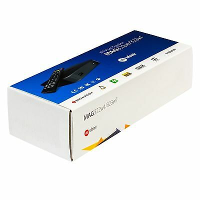 MAG 322 w1 Infomir Linux IPTV Box HEVC H.265 Built-In WiFi WLAN