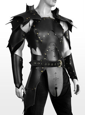 REAL leather Medieval re-enactment theatrical complete Armor LARP viking SCA