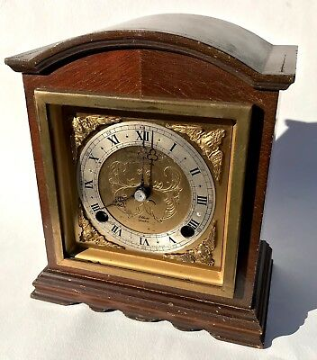 Lovely Elliott London Chiming Mantel Clock Garrard & Co Spairs Or Repairs