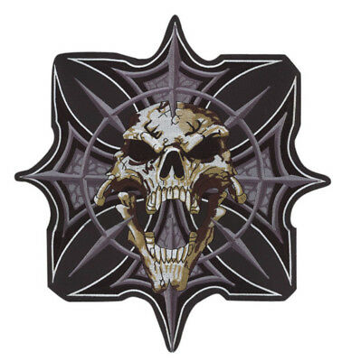 """Lethal Threat Gothic Skull & Cross Patch 12"""" X 11"""""""