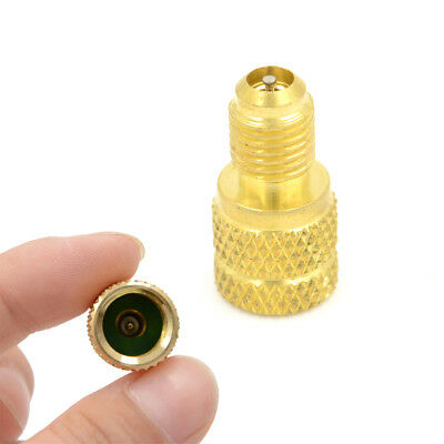 """ACME A/C R134a Brass Fitting Adapter 1/4"""" Male To 1/2"""" Female Valve Core Tool"""""""